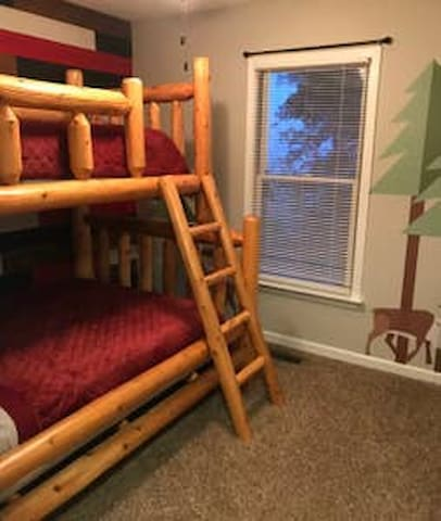 Twin and full bunk bed