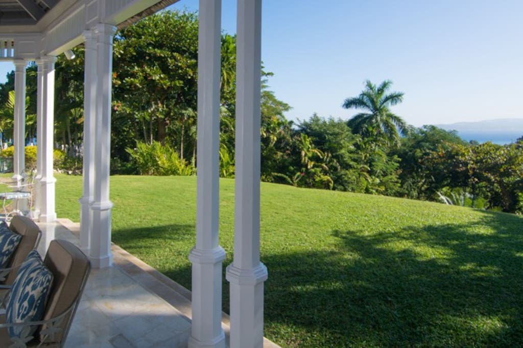 Down a gentle slope a few steps from the house is the 35' private pool ...