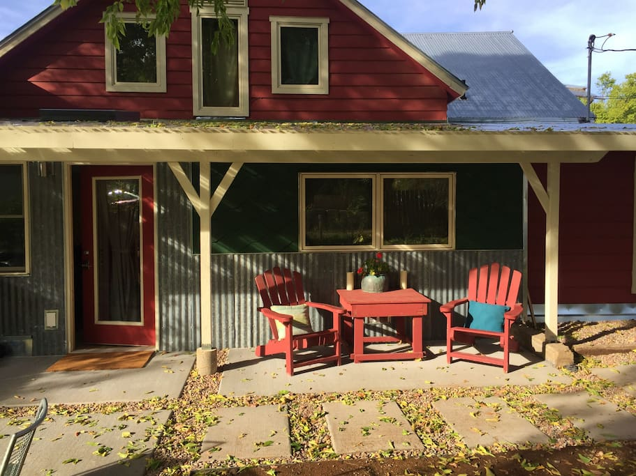 Entry and Adirondack chairs