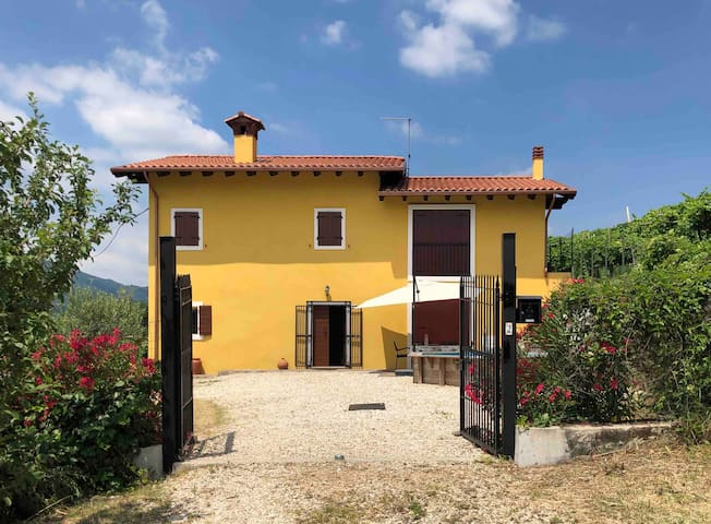 Mooi landelijk huis tussen de wijngaarden