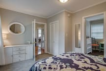 Walk through the master bedroom to enter the guest bedroom
