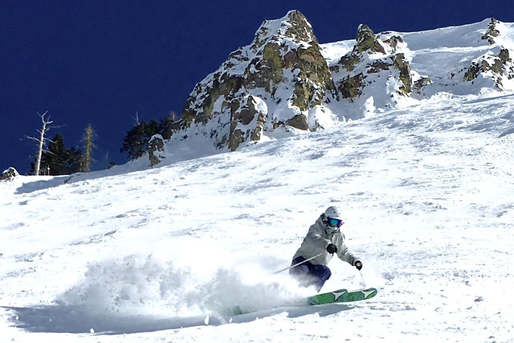Your ski ticket at Squaw Valley USA also works at Alpine Meadows and there is a FREE ski shuttle to take you there!