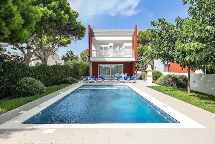 One of two villas next door with private pools