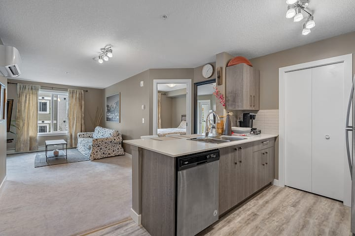 2 bedrooms with AC and underground parking
