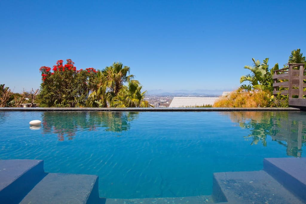 the cape-view by the pool