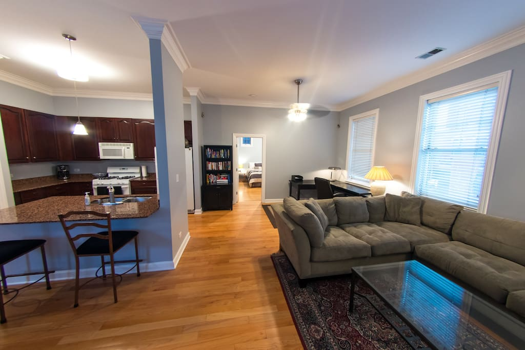 Open floor plan allows for great living and dining space as a family.