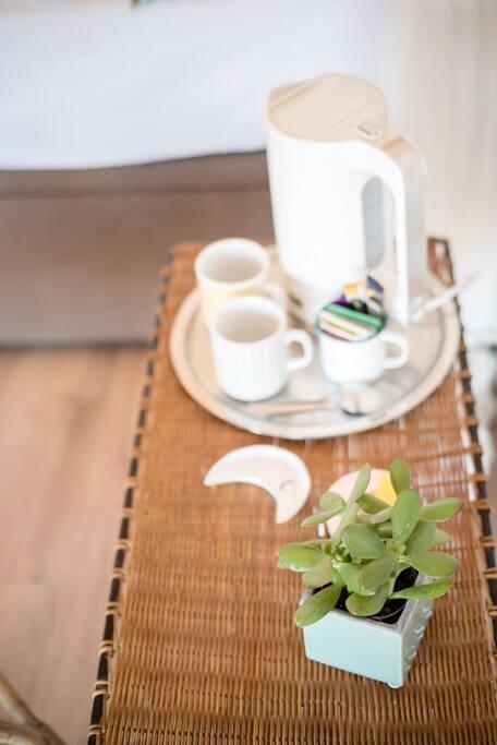 Pour une pause détente thé, café