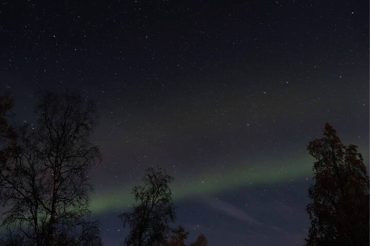 Northern lights seen from the property 2