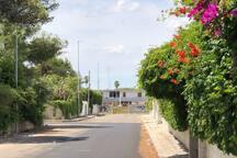 vista sulla casa dalla strada al ritorno dal mare