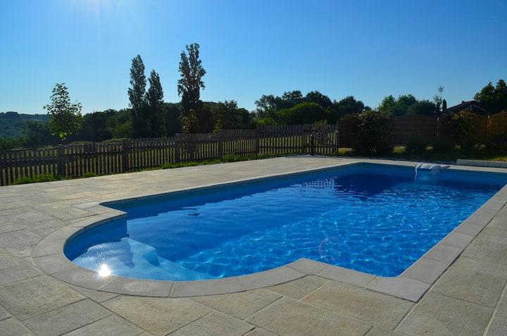 Chambre avec piscine Villa des Plannes