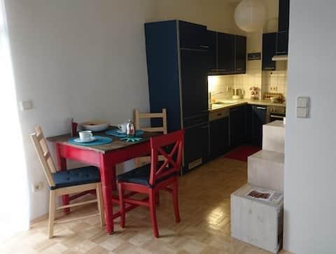 gemütliche Wohnung mit Schlossbergblick