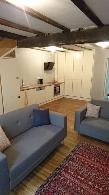 Open-plan living/dining area