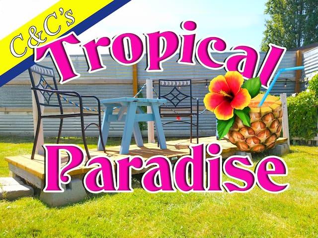 """C&C's Coastal Cottage Apt. B  """"Tropical Paradise"""""""