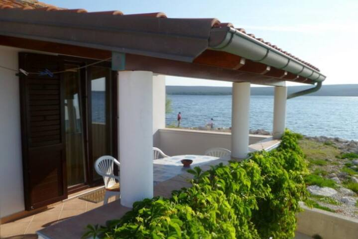 Two bedroom apartment with terrace and sea view Nerezine (Lošinj) (A-7963-c)