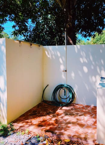Outdoor shower - great for cleaning dive gear!