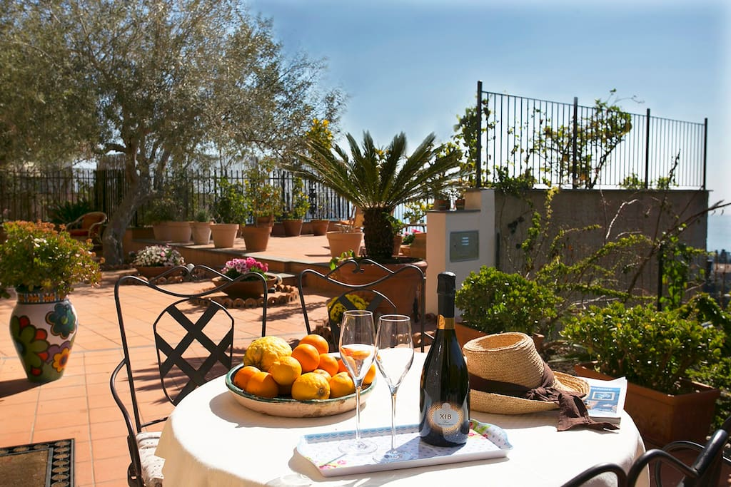 Enjoy al fresco dining and relaxation on the terrace