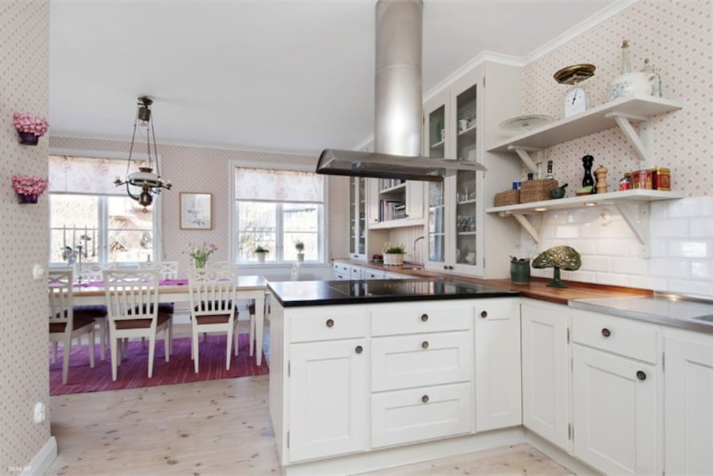 The large family kitchen at the heart of this home