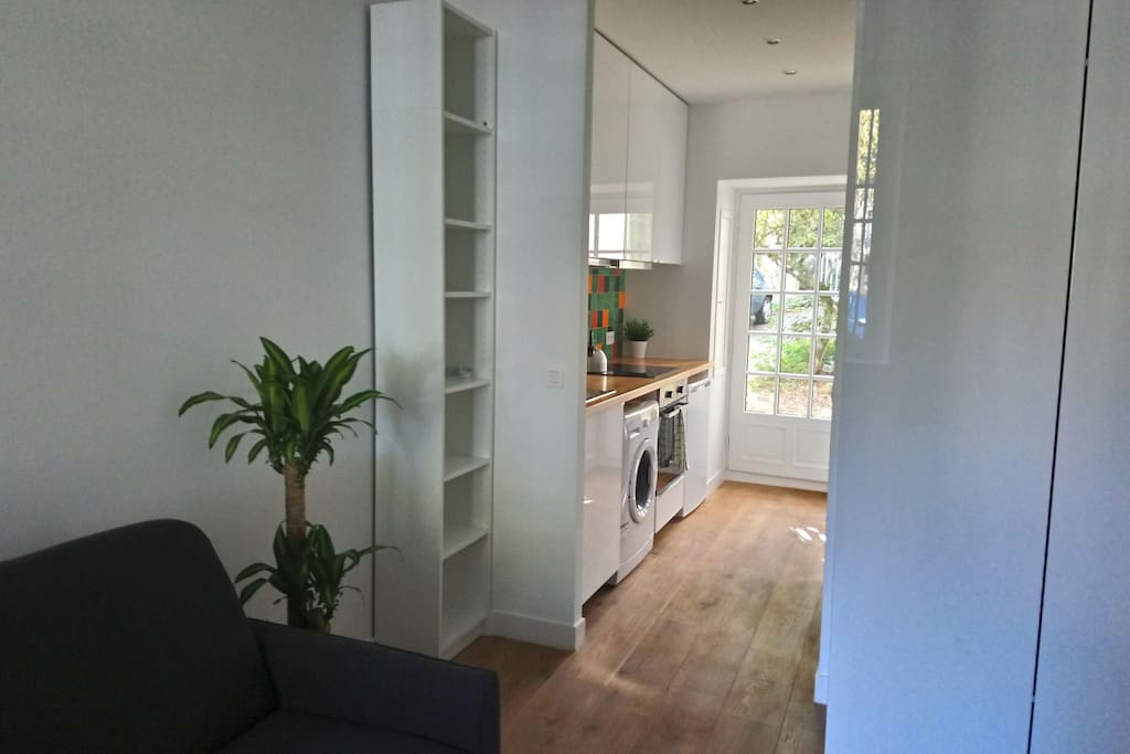From the living room to the kitchen