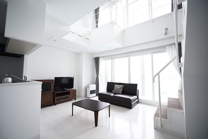 (0588)Stylish apartment 5min by car from Otaru Sta - Otaru - Apartamento