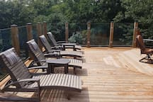 Lots of room to relax on the deck