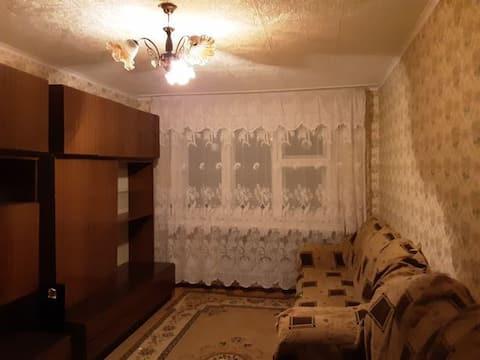 Warm, sunny 1-bedroom apartment.