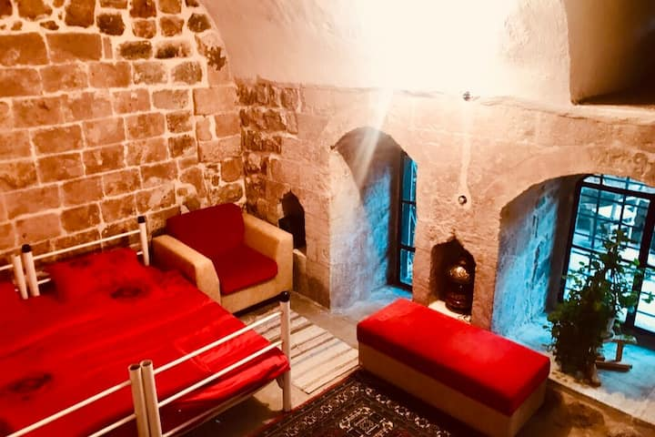 Single Bed in Ancient House