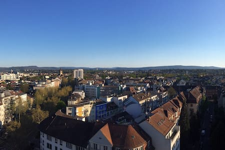 central apartment in Basel with great view