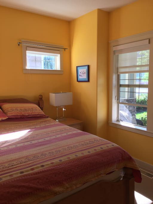 Guest bedroom at the front of the house