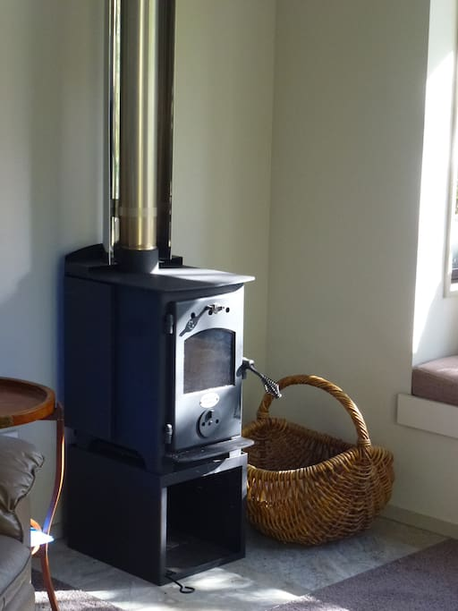 Wood burner for cozy winter evenings.  Wood supplied.