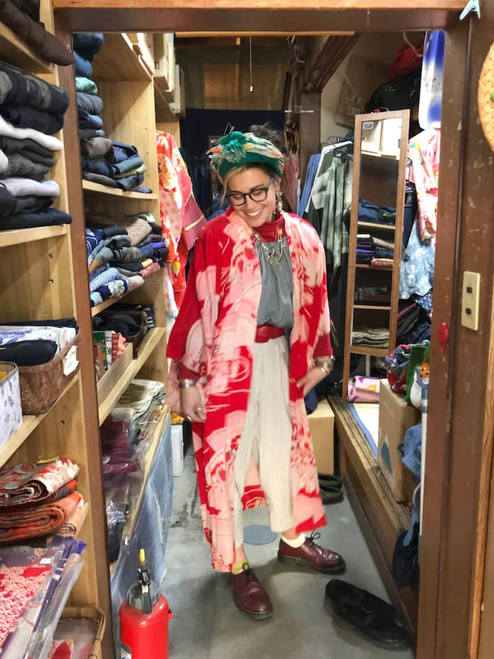 Find your kimono at the  vintage store