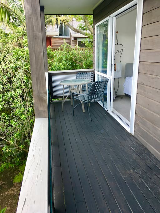 Bedroom Deck Surrounded By Native Deck
