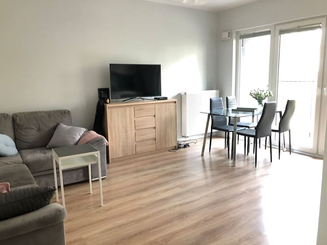 Place in the cosy apartment close to the city