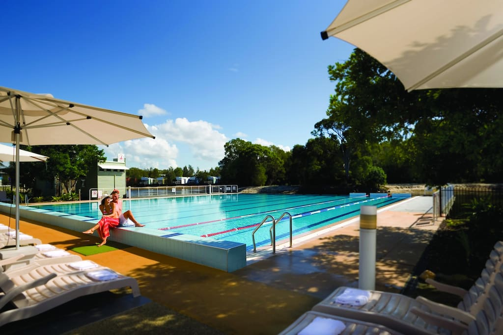 Enjoy access to the Couran Cove Resort pool