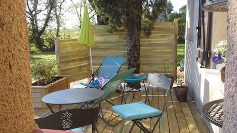 Vila T1 com piso de jardim perto de Albi