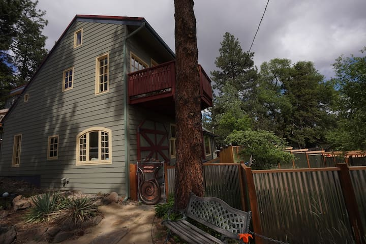 Urban Studio area occupies top two levels of front west side of home