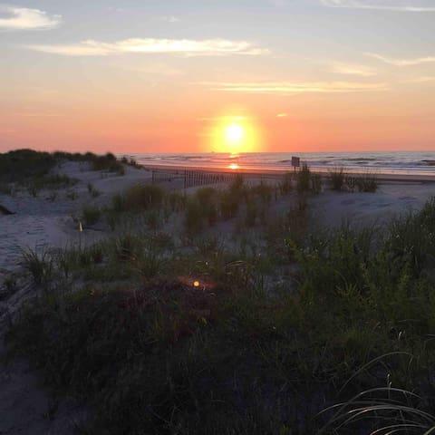 Early Morning Beach Sunrise