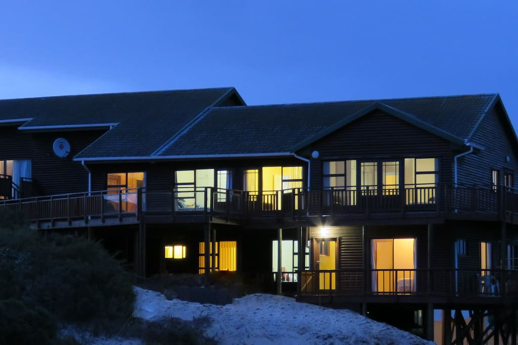 The Beach Lodge at Night