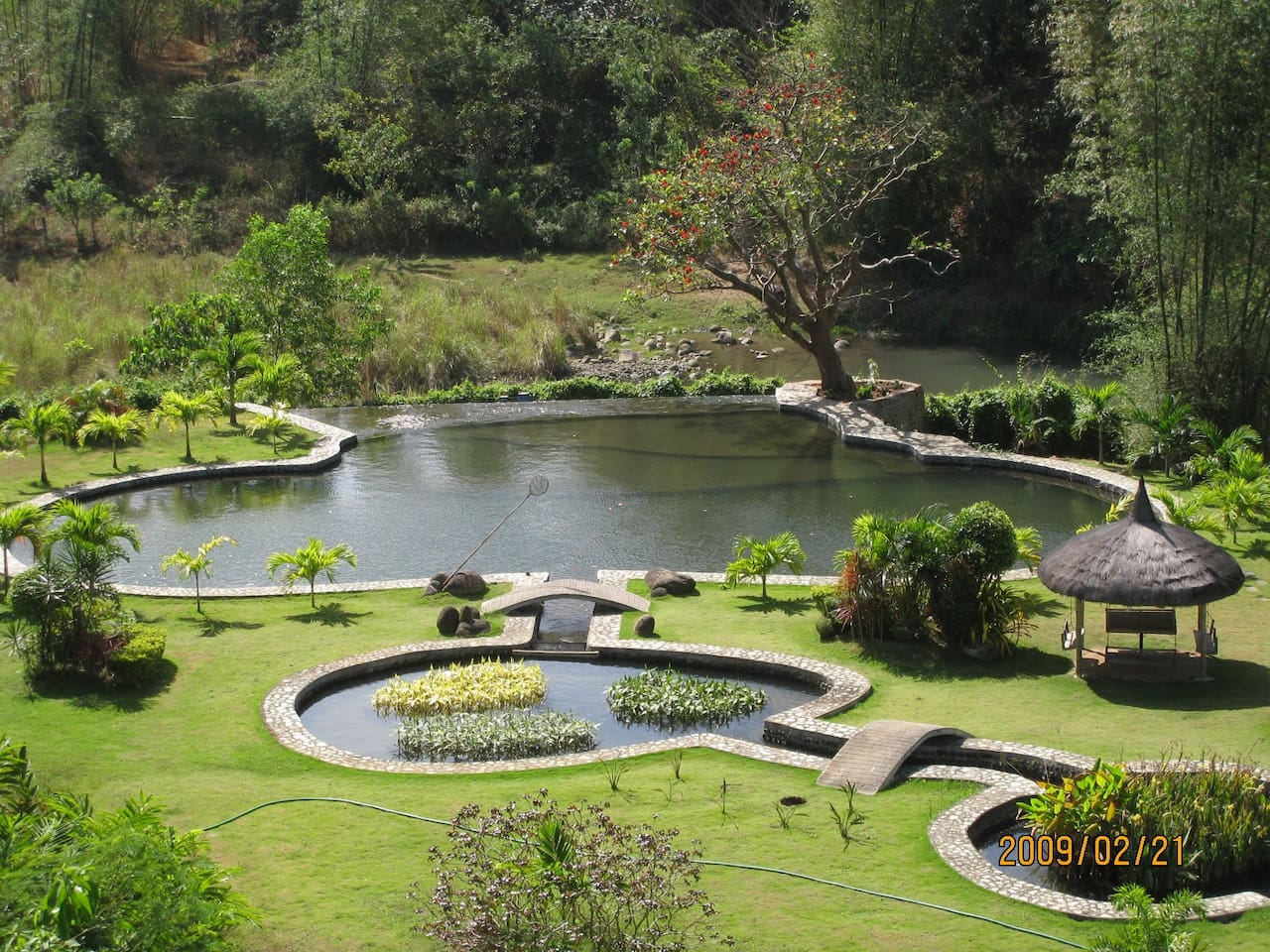 River fed natural pool