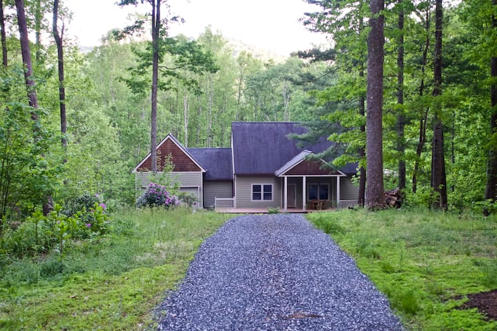 Blue Ridge Retreat on a 5 Acre Forest - King Bed - Asheville - Appartement