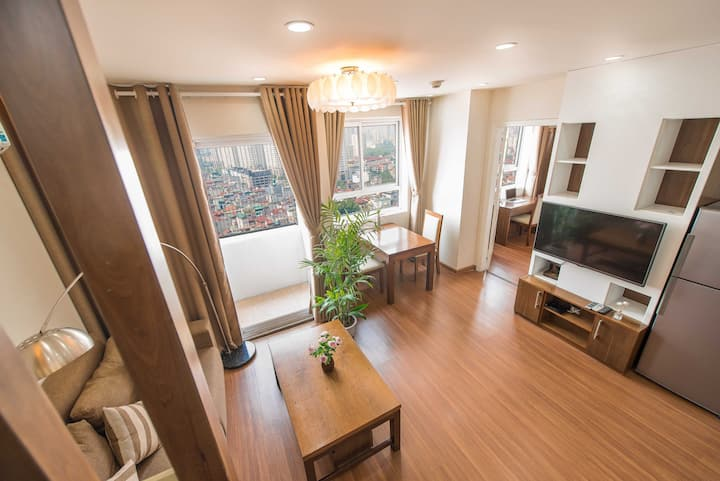 Great View 1 Br Apt rooftop, near Lotte, Cau Giay