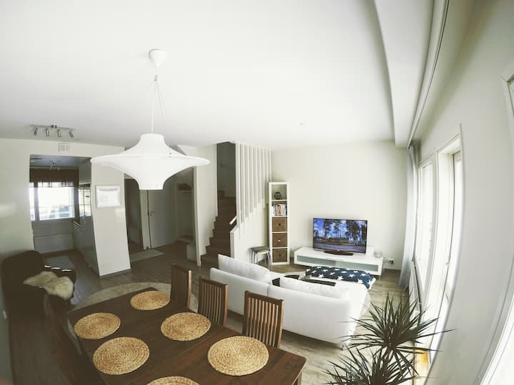 Spacious apartment with 2 bedrooms and sauna