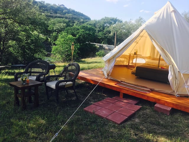 All Season Glamping on Lake Travis! - Leander - Tent