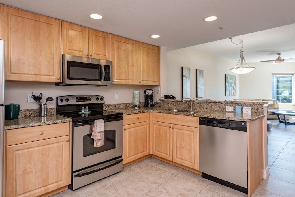 Fully equipped kitchen including dishes, cookware, all major and small appliances you're accustomed to at home