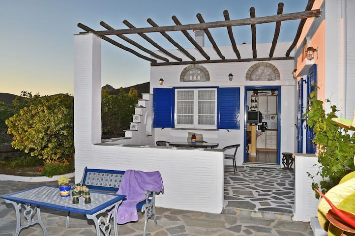 White & Blue house in Tinos island