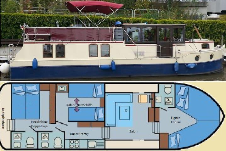 Mitfahrgelegenheit auf Hausboot IRON
