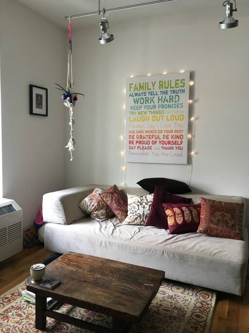 Living room includes a Smart TV.
