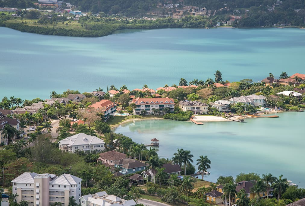 Aerial view of  Pelican Bay