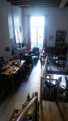 Chambre dans maison de rue avec Terrasse - Romans-sur-Isère - Apartamento
