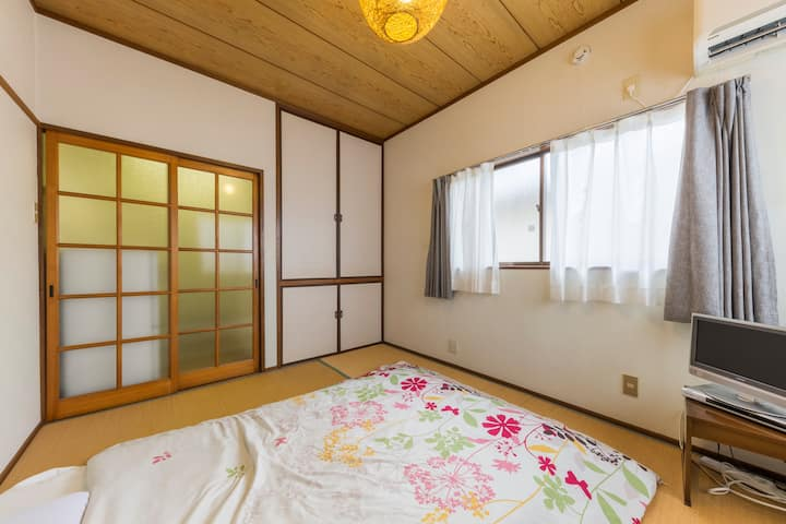 Cozy Japanese Style Apt for 3, /FREE WiFi/#201