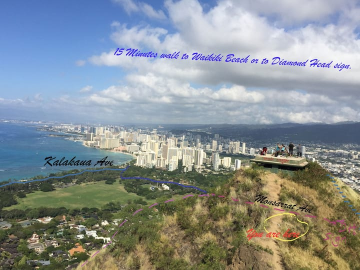 New listing Waikiki- Diamond Head Promenade  270